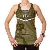Running Girl Racer Back Green