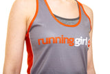 Running Girl Racer Back Orange and Grey