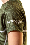 Running Girl Short Sleeve T Shirt Green