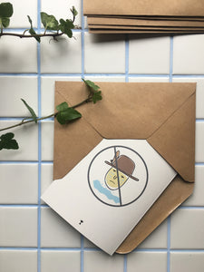 ONIONS LIFEHACK CARD-Greeting cards-Kongstad Prints
