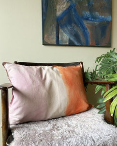 PINK ~ ORANGE CUSHION