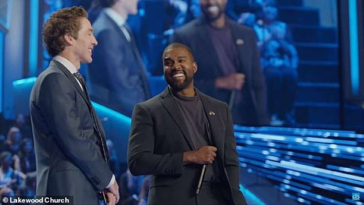 Watch Rapper Kanye West Perform At Joel Osteen's Church Live | Video