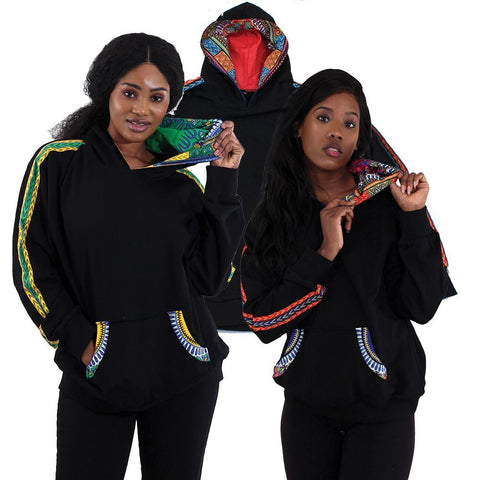Image of Traditional Unisex Print Hoodie
