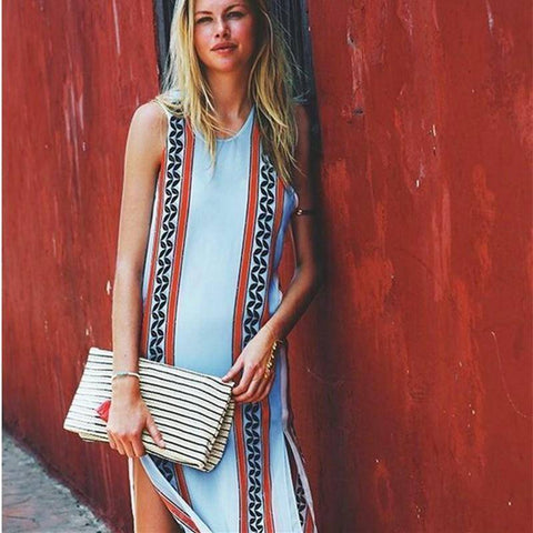 Bohemia Printed Long Dress