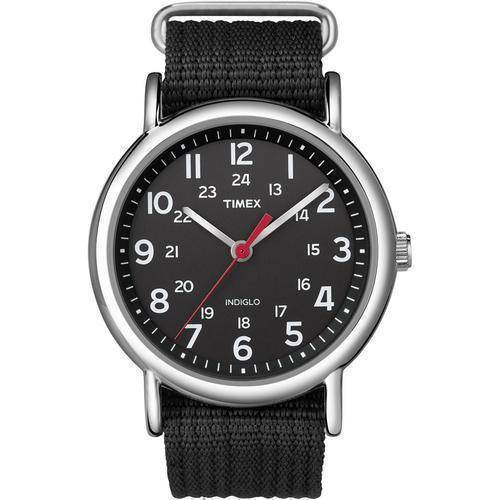 Timex Weekender Slip-Thru Watch - Black/Black