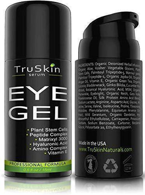 Best Eye Gel for Wrinkles & Puffiness | 75% ORGANIC Ingredients