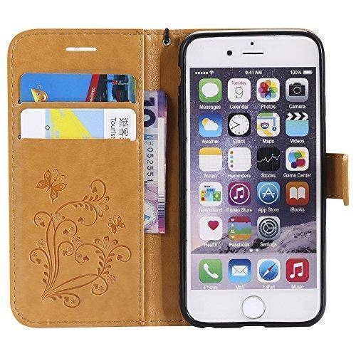 Leather Wallet Case For  iPhone 6/ iPhone 6s | Flip Stand, Credit Card Slot