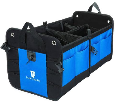 Image of Portable Multi Compartments Heavy Duty Non-Slip Cargo Trunk Organizer