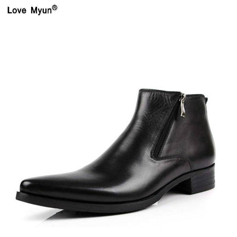 Genuine Cow Leather Boots