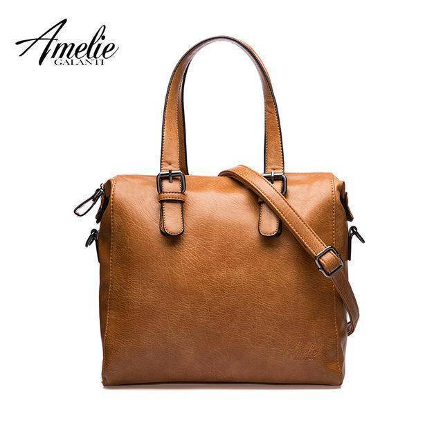 AMELIE GALANTI vintage solid crossbody casual flap bags