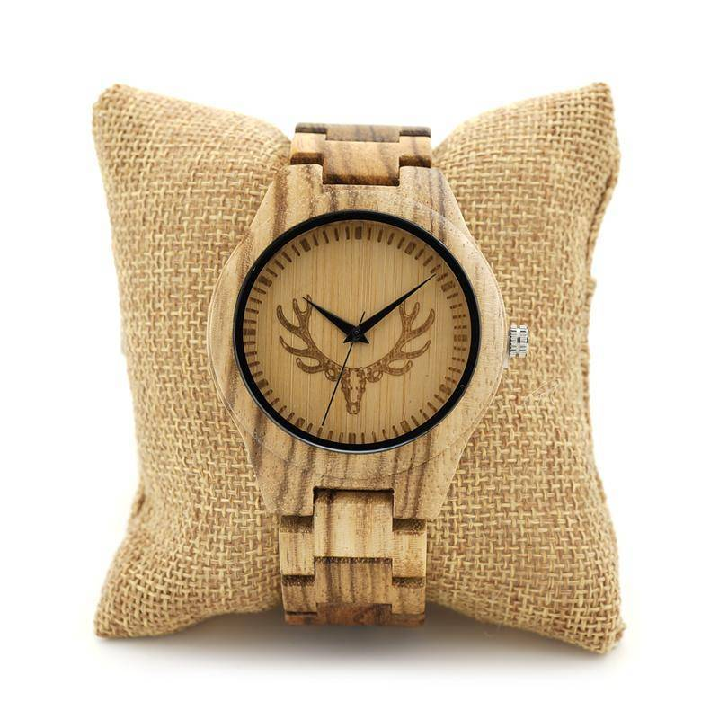BOBO BIRD Brand Zebra Wood Watch
