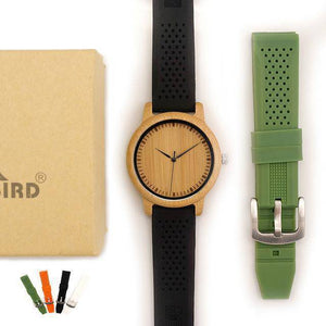 BOBO BIRD Simple Style Bamboo Wooden Watches