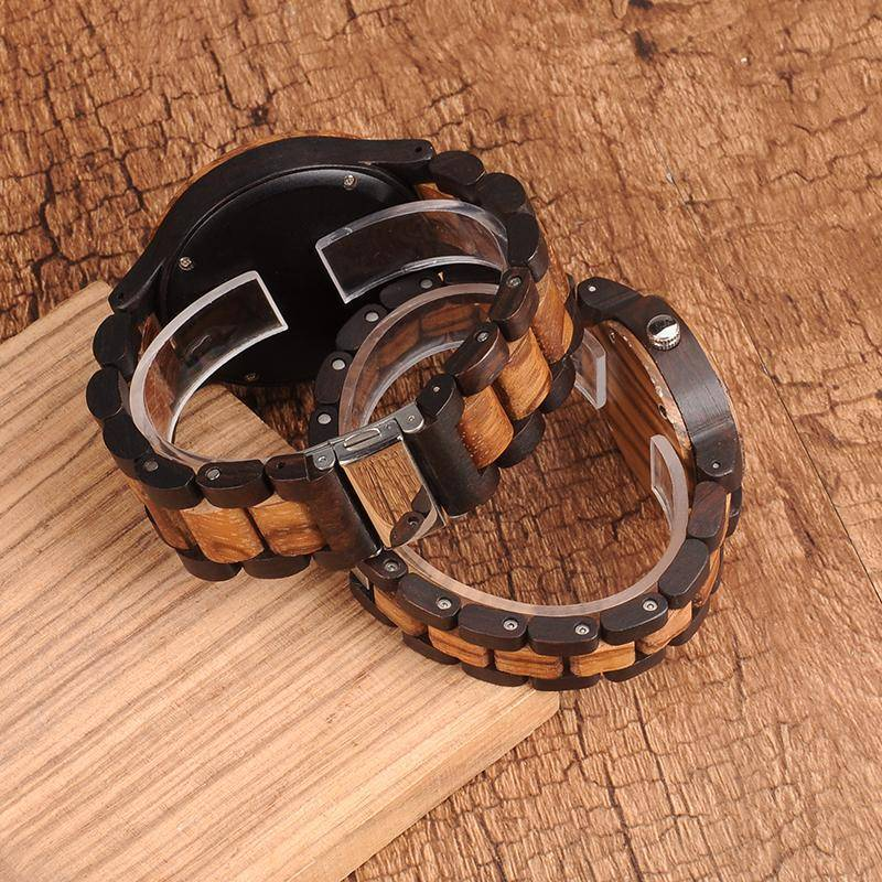 BOBO BIRD N28N30 Zebra Ebony Wooden Watches