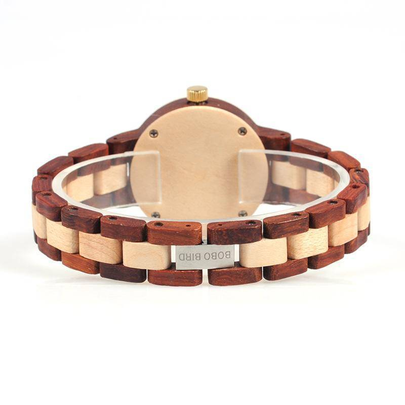 BOBO BIRD Two-tone Timepieces Wooden Watch