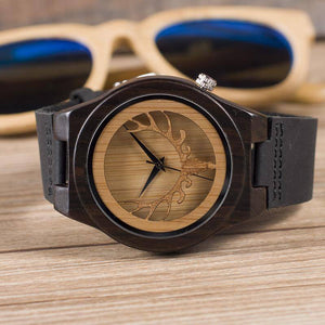 BOBO BIRD WB18 Deer Skeleton Black Wood Watches