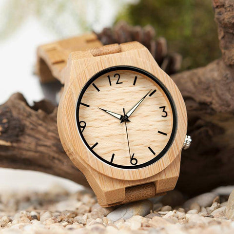 Image of BOBO BIRD WD27 Bamboo Wooden Watch for Men