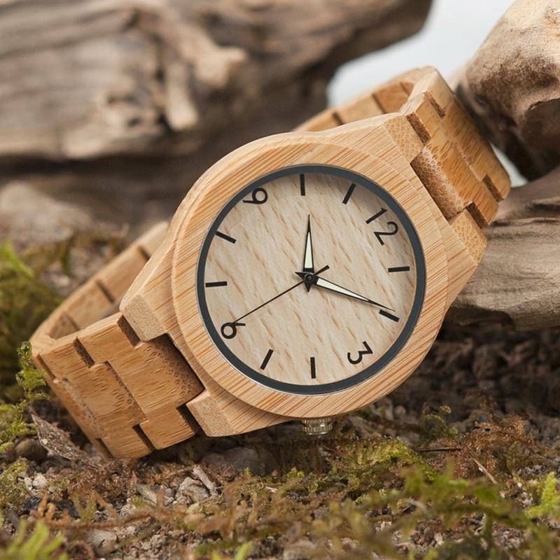 BOBO BIRD WD27 Bamboo Wooden Watch for Men
