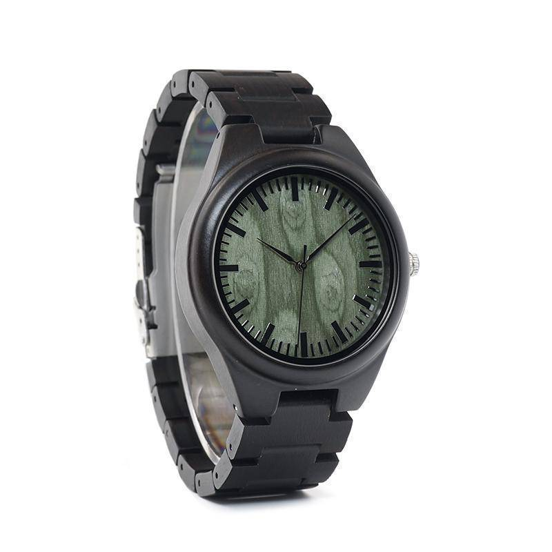 BOBO BIRD WH03 Mens Ebony Wooden Watch