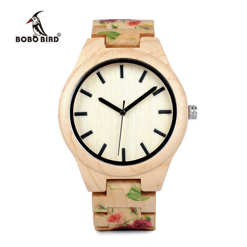 BOBO BIRD WL26 Strong Pine Wood Watches