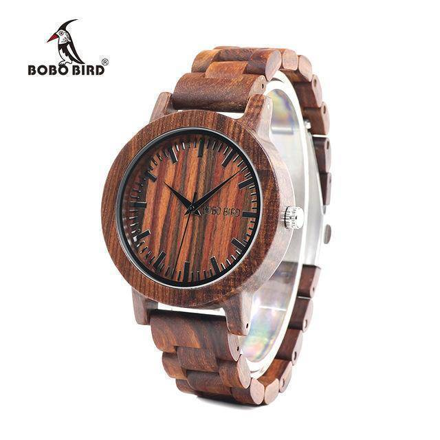 BOBO BIRD WM10  Red Sandalwood Wooden Watches