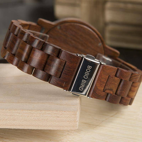 Image of BOBO BIRD WM10  Red Sandalwood Wooden Watches