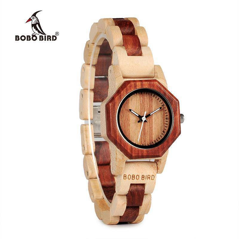 BOBO BIRD WM25M26 Duotone Wooden Quartz Watch