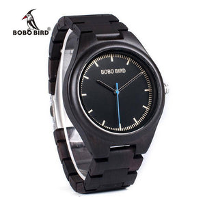 BOBO BIRD WO03 Natural Ebony Wooden Watches