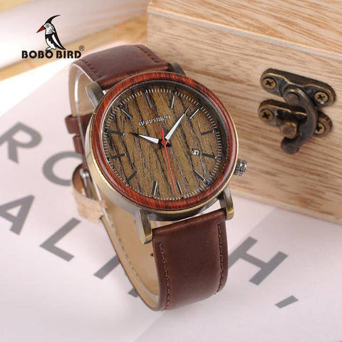 Image of BOBO BIRD WO27  Wooden Metal Watch