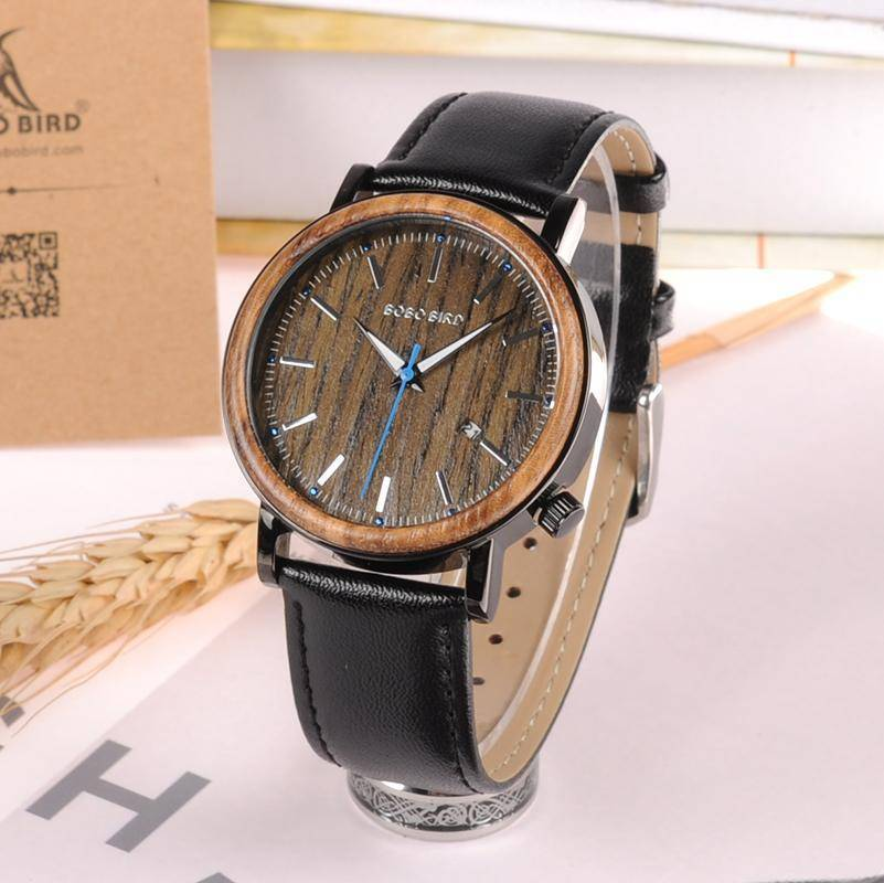BOBO BIRD WO27  Wooden Metal Watch