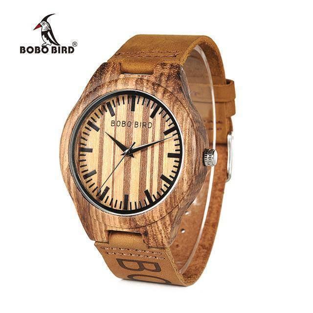 BOBO BIRD WO30 Classic Zebra Wooden Watch