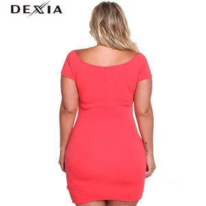 DEXIA Black Short Sleeve Women Dress