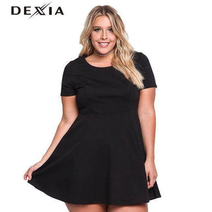 DEXIA Casual O Neck Short Sleeve Women Dress