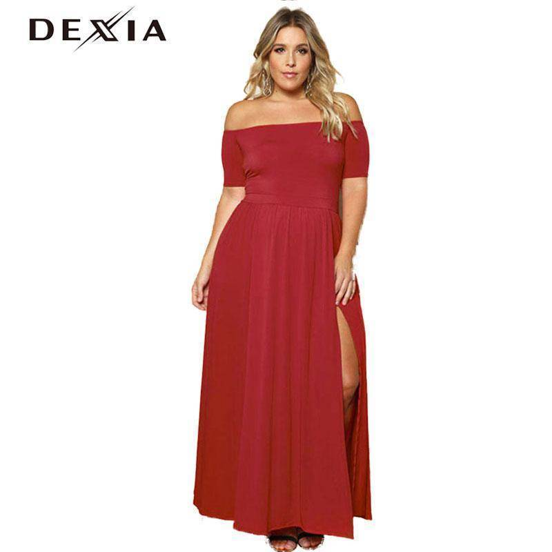 DEXIA O-Neck Short Sleeve dress