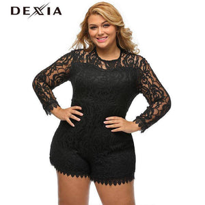 DEXIA Lace  Solid Full Sleeve O Neck Dresses