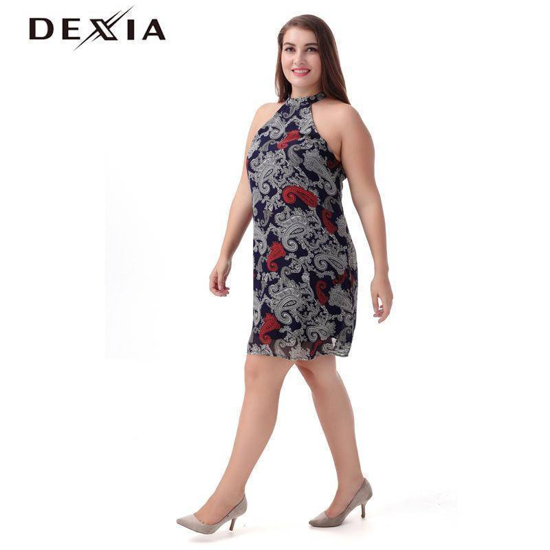 DEXIA  O-Neck Sleeveless Club Off Shoulder Dress