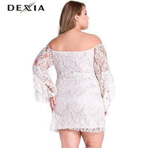 DEXIA Backless Long Sleeve Solid Dress