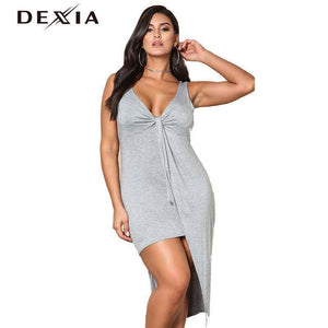 DEXIA Halter Off Shoulder Sleeveless dress