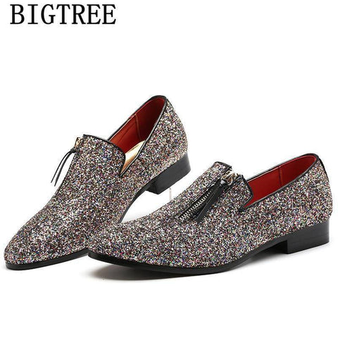Glitter Men's Loafers | Crypto Fashion House