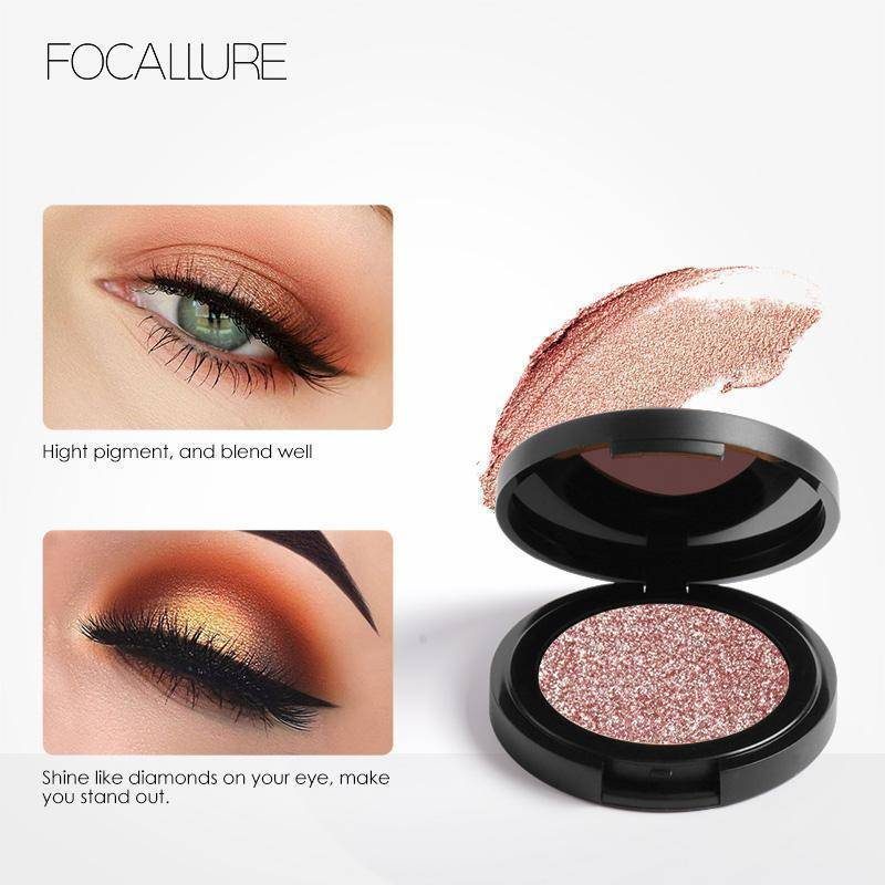 FOCALLURE Professional Metallic Eyeshadow Palette Makeup