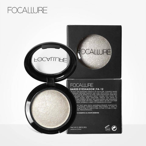 FOCALLURE Single Baked Eye Shadow Powder Makeup Palette