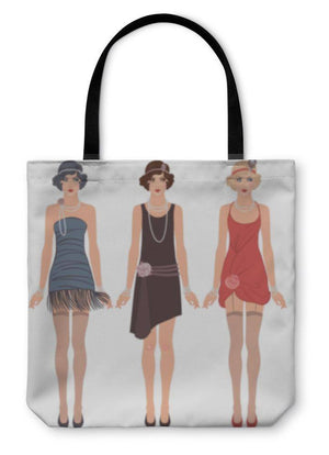 Tote Bag, Three Young Flapper Women Of 1920s