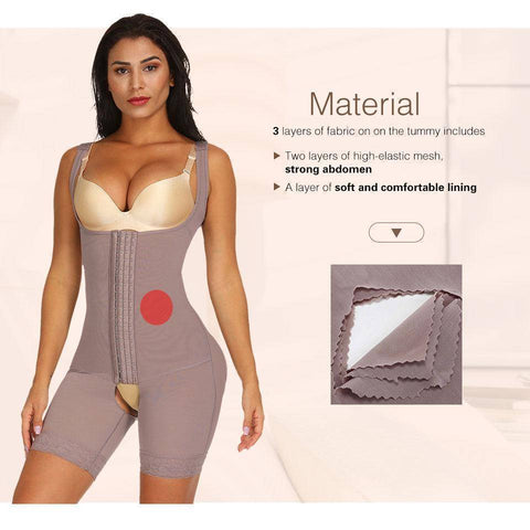 Women Full Body Shaper Seamless Thigh Corset Tummy Control Underbust