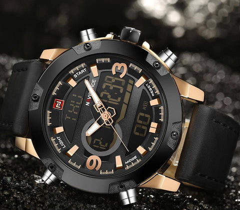 Image of NAVIFORCE Luxury Brand Men Analog Digital Watch