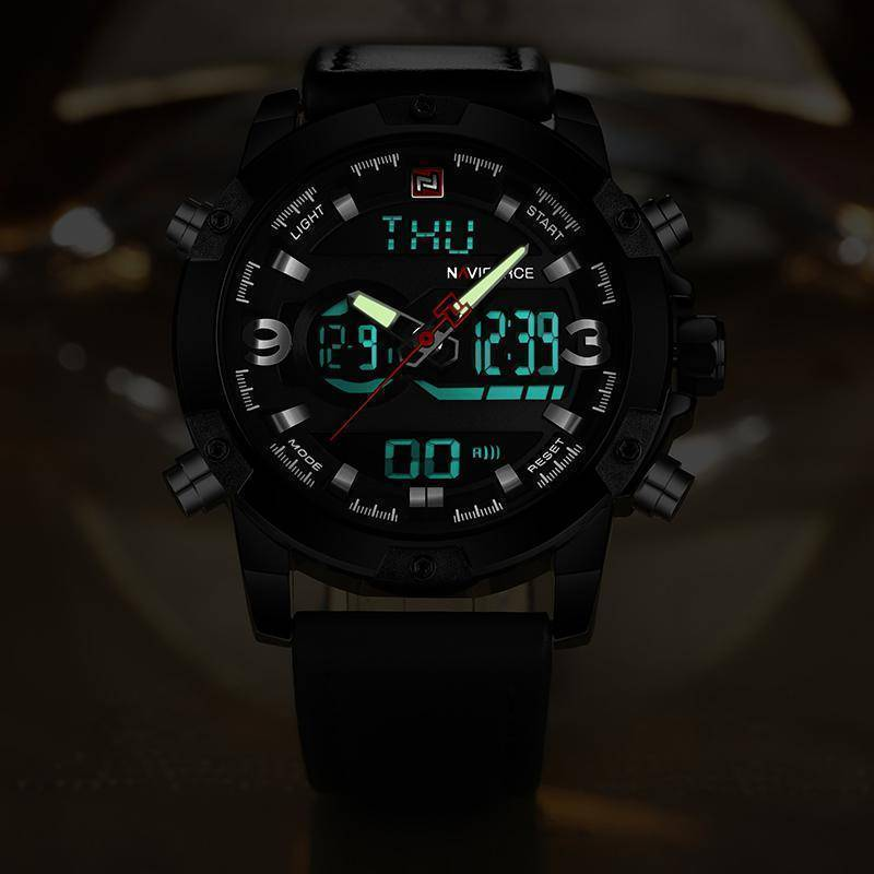 NAVIFORCE Luxury Brand Men Analog Digital Watch
