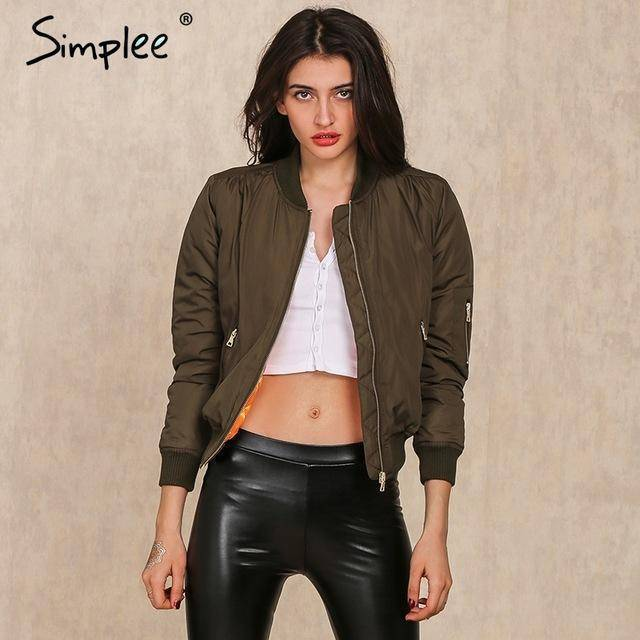 Simlee Apparel Winter parkas cool basic bomber jacket