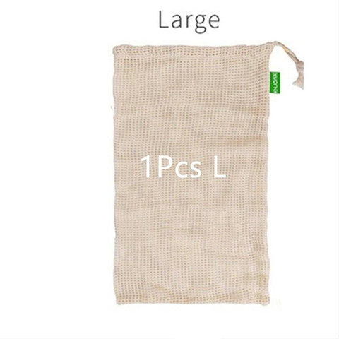 Image of Reusable Cotton Mesh Bag for Vegetables