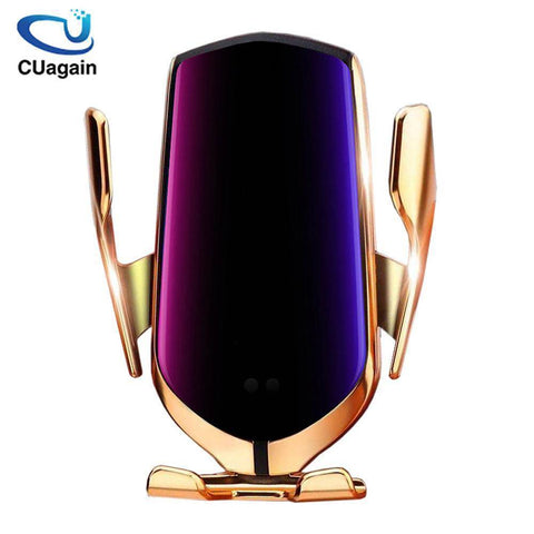 360 Rotation QI Silicone Pad Wireless Fast Car Charger Wireless Car Phone Holder