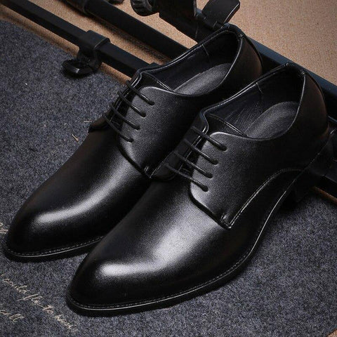 Black Leather Formal Business Shoes