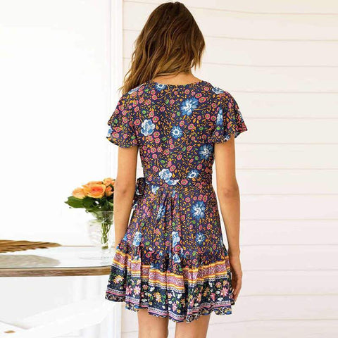 2019 New Release Mini Floral Boho Dress