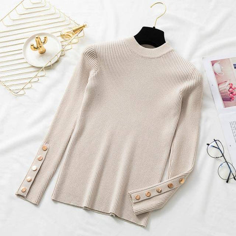 Image of Women Knitted Casual Cashmere